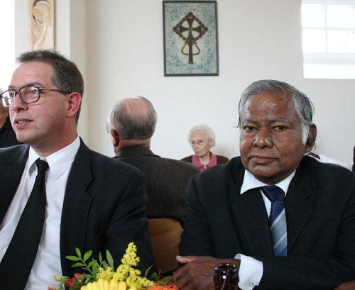 Pfr. Hammann und unser indischer Gast Bischof Johnson.